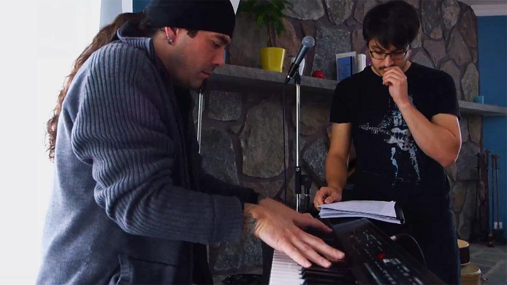Dany et Alex en session de composition
